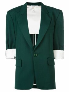 Oscar de la Renta cropped sleeves blazer - Green