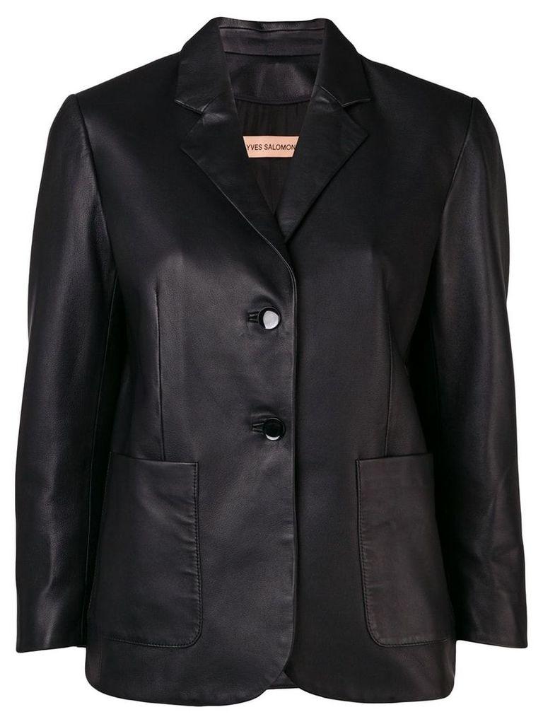 Yves Salomon slim single-breasted blazer - Black