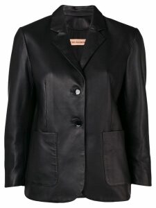 Yves Salomon slim single-breasted blazer - Black