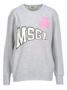 Msgm Msgm Logo And Palm Print Sweatshirt