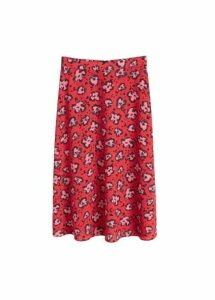 Print crepe skirt