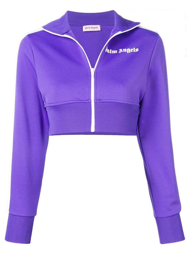 Palm Angels cropped track jacket - Purple