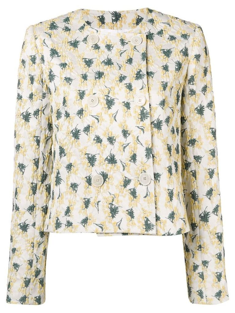 Sonia Rykiel textured double breasted jacket - Neutrals