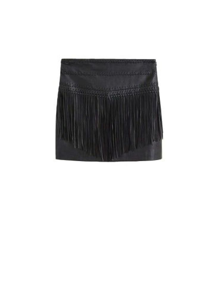 Leather miniskirt