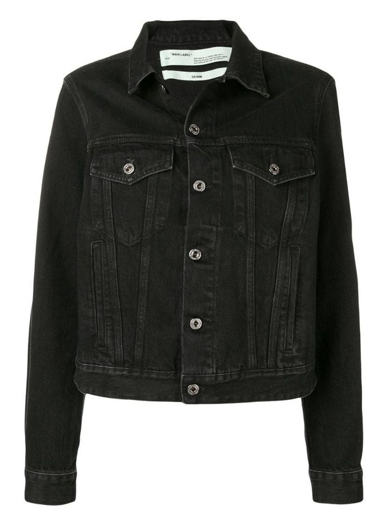 Off-White slim fit denim jacket - Black