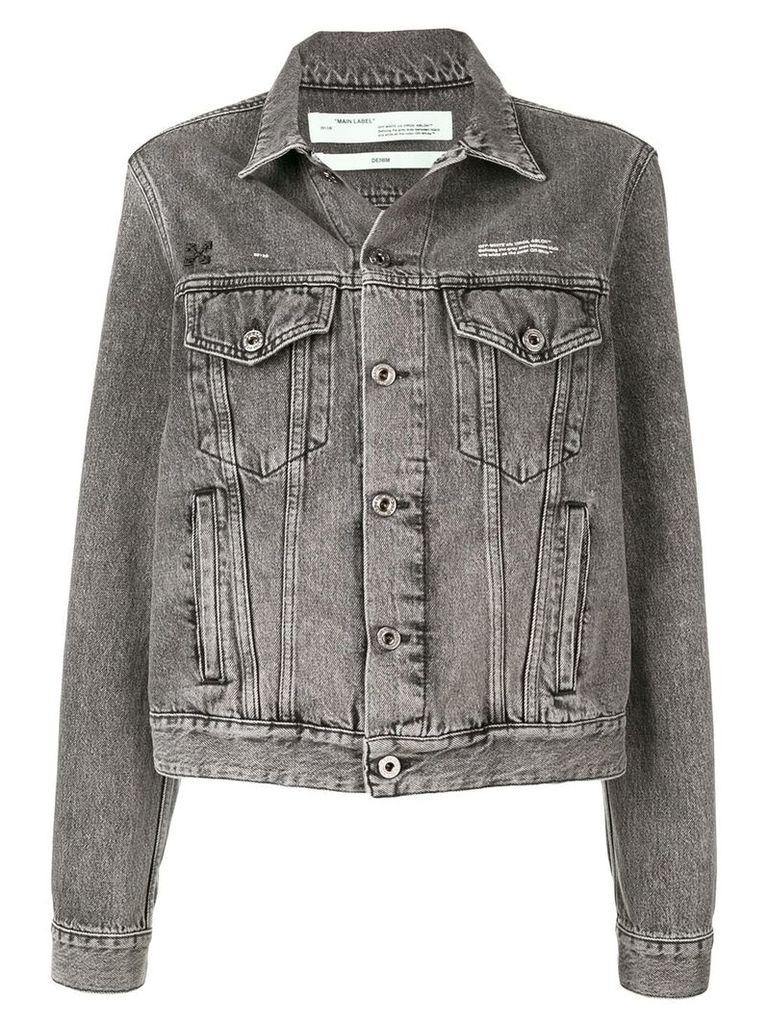 Off-White faded wash denim jacket - Grey