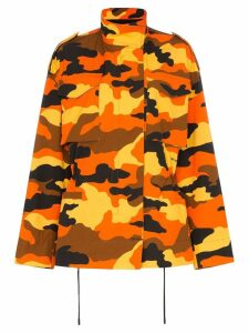 Off-White camouflage print parka - Orange
