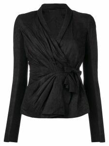 Rick Owens Tungsten wrap jacket - Black