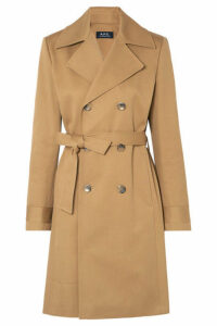A.P.C. Atelier de Production et de Création - Alexis Cotton-drill Trench Coat - Beige