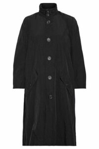 Opening Ceremony - Oversized Printed Crinkled-shell Trench Coat - Black