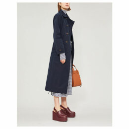 Double-breasted shell trench coat