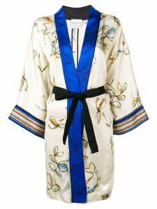Forte Forte floral print kimono jacket - Neutrals
