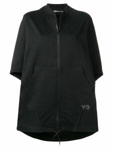 Y-3 oversized poncho jacket - Black