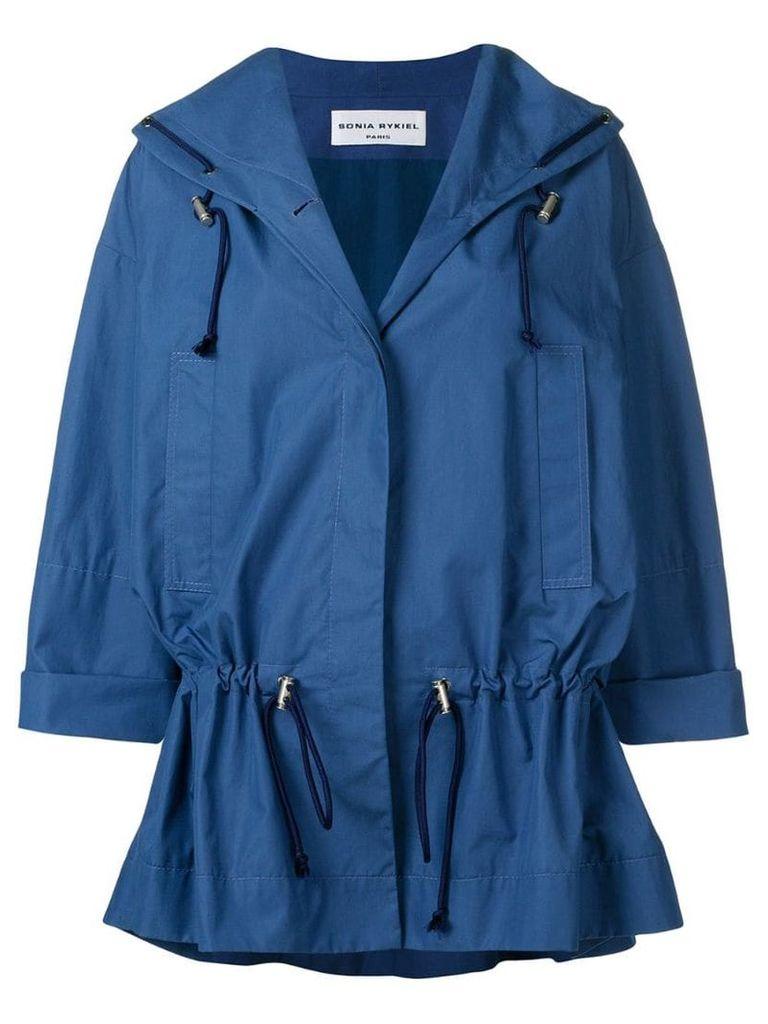 Sonia Rykiel oversized drawstring waist jacket - Blue