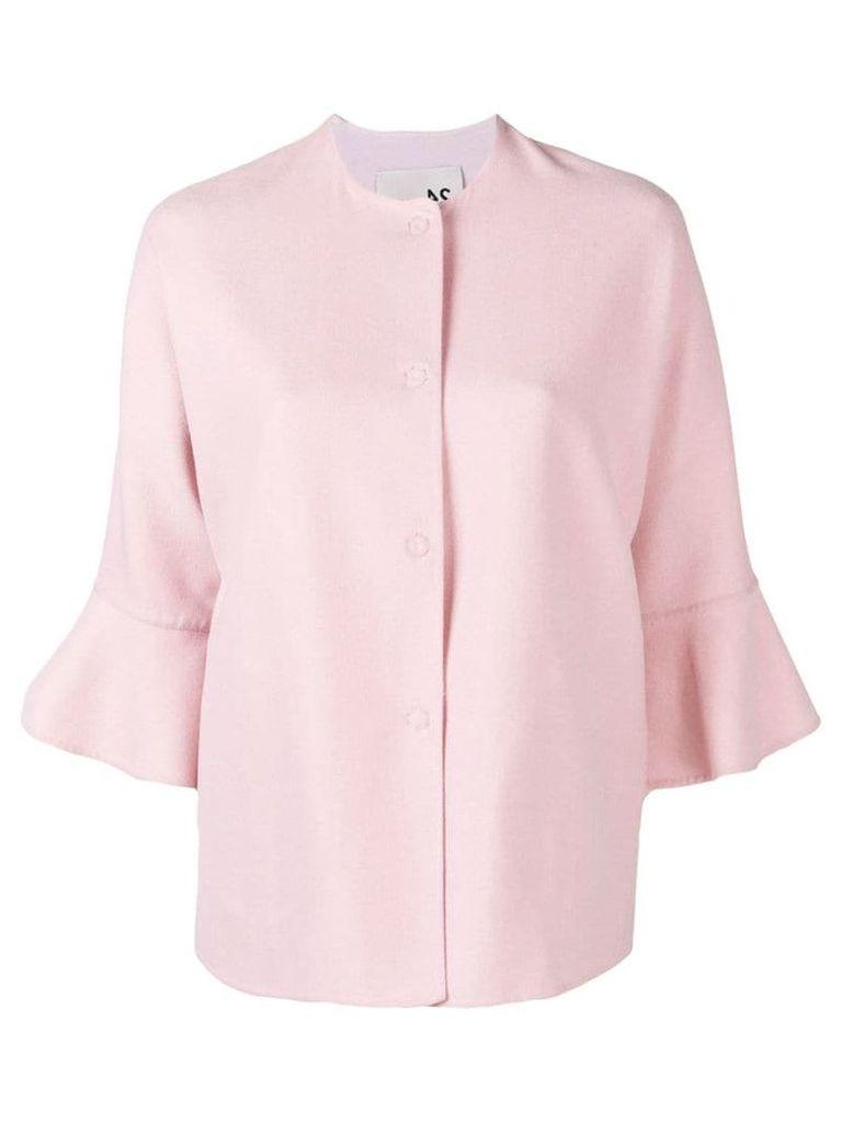 Manzoni 24 ruffled cuff jacket - Pink