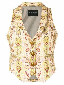 Etro floral jacquard waistcoat - Yellow