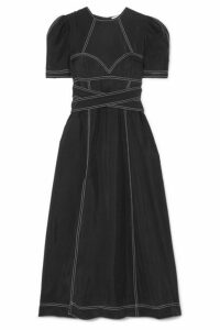 alice McCALL - Hachi Brushed-twill Midi Dress - Black