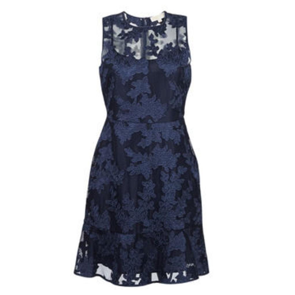 MICHAEL Michael Kors  PALM APPLQ MESH DRS  women's Dress in Blue