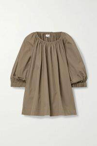 Rhode - Lea Belted Cotton-voile Midi Dress - Peach