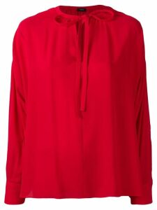 Joseph tied neck blouse - Red