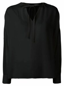 Joseph tie neck blouse - Black