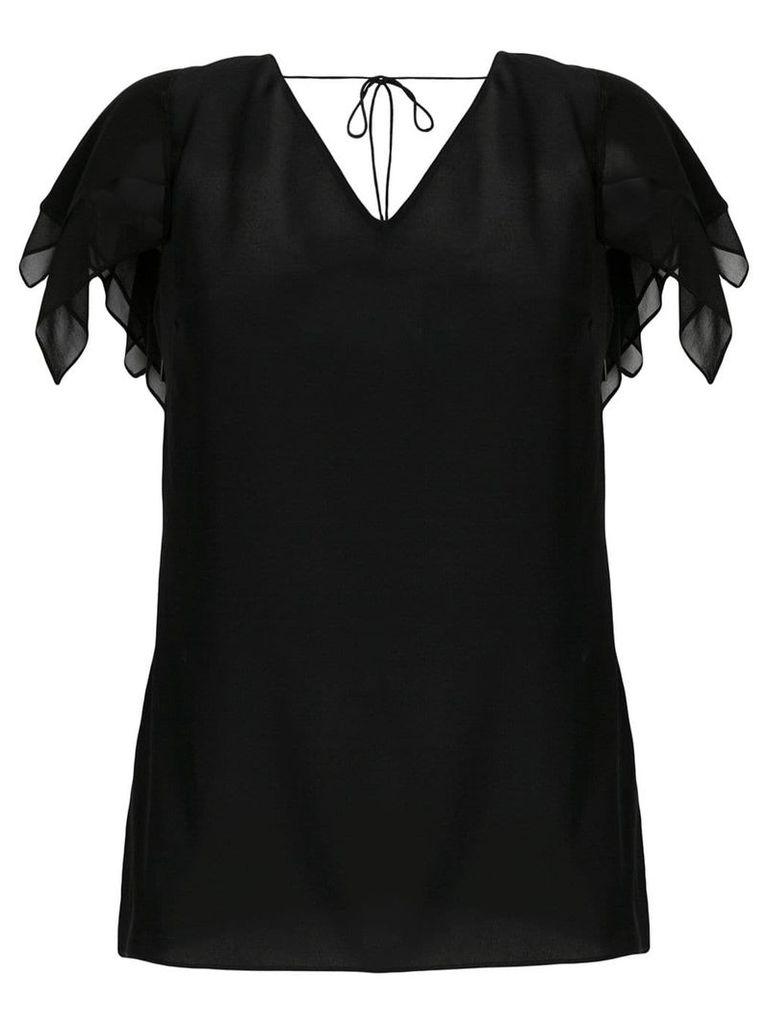 Roberto Cavalli layered sleeve blouse - Black