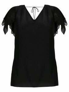 Roberto Cavalli layered sleeve blouse - Black