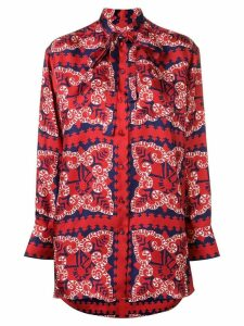 Valentino logo bandana print blouse - Red