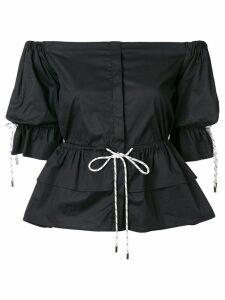 Christian Pellizzari strapless shirt - Black