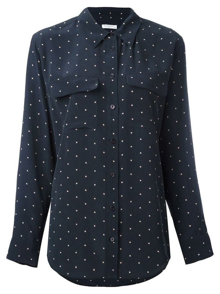 Equipment dot print shirt - Blue