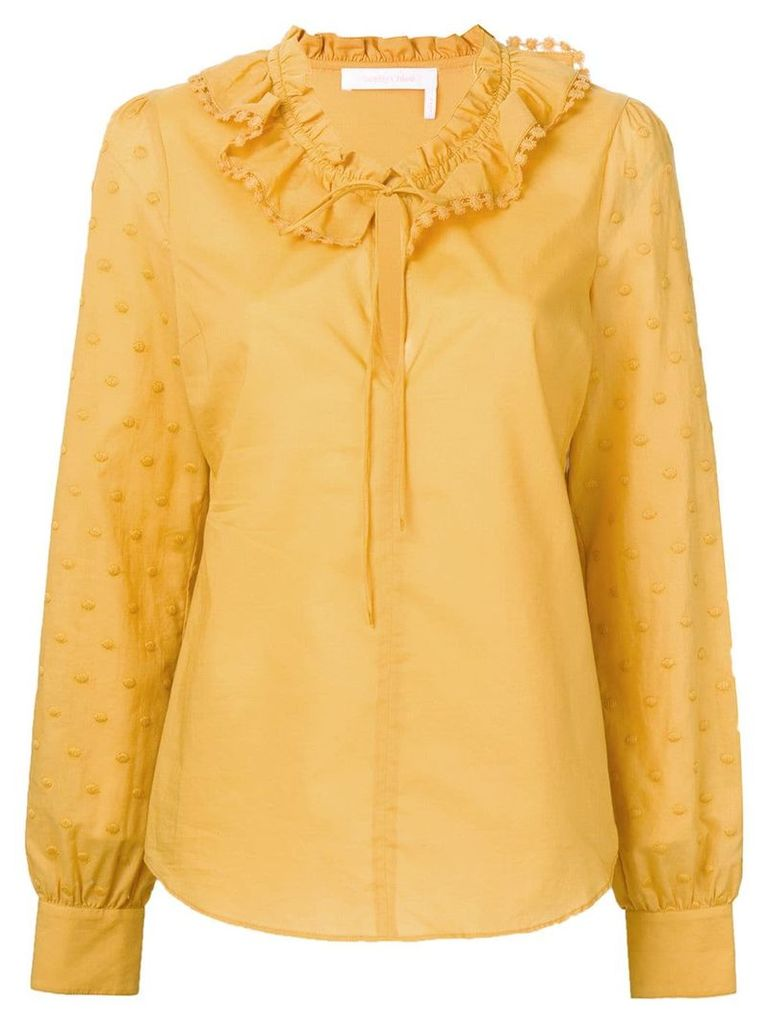 See By Chloé polka dot-embroidered blouse - Yellow