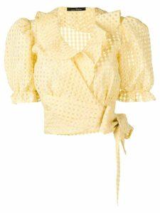 Rokh gingham print blouse - Yellow