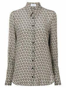 Salvatore Ferragamo spotted blouse - Black