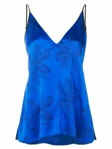 Forte Forte floral embroidered top - Blue