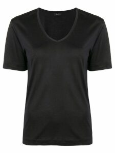 Joseph short-sleeve fitted top - Black