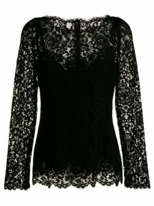 Dolce & Gabbana long-sleeved lace blouse - Black