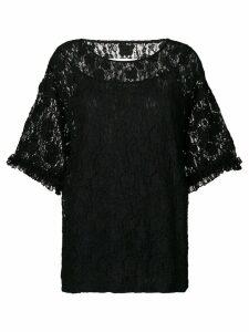 Mm6 Maison Margiela oversized lace blouse - Black