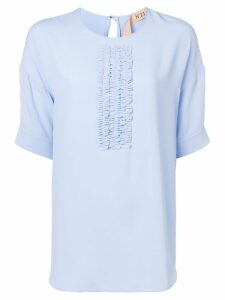 Nº21 ruched-detailed blouse - Blue