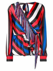 MSGM striped long-sleeve top - Black