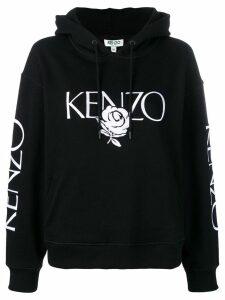 Kenzo Floral logo hoodie - Black