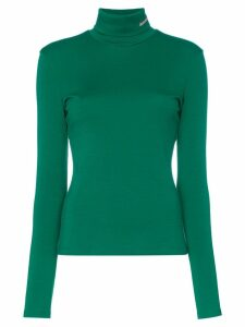 Calvin Klein 205W39nyc Fitted wool jersey turtleneck - Green