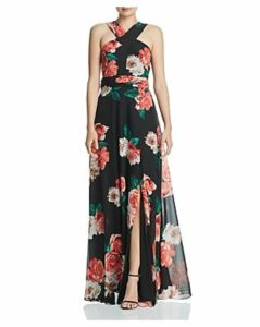 Laundry by Shelli Segal Floral Chiffon Gown