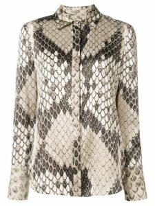 Roberto Cavalli snakeskin print shirt - Neutrals