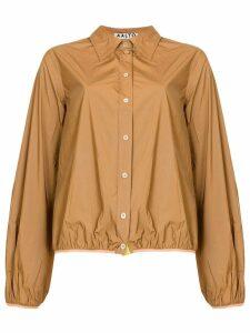 Aalto gathered hem shirt - Brown