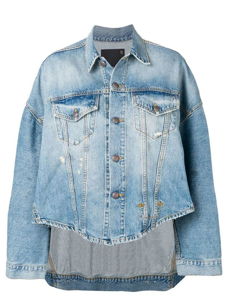 R13 oversized denim shirt - Blue