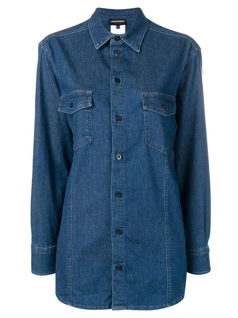 Emporio Armani denim shirt - Blue