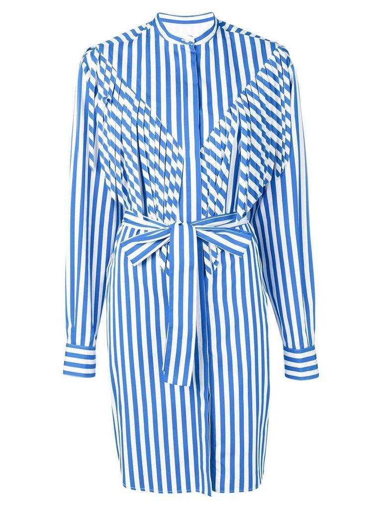 MSGM long striped shirt - Blue