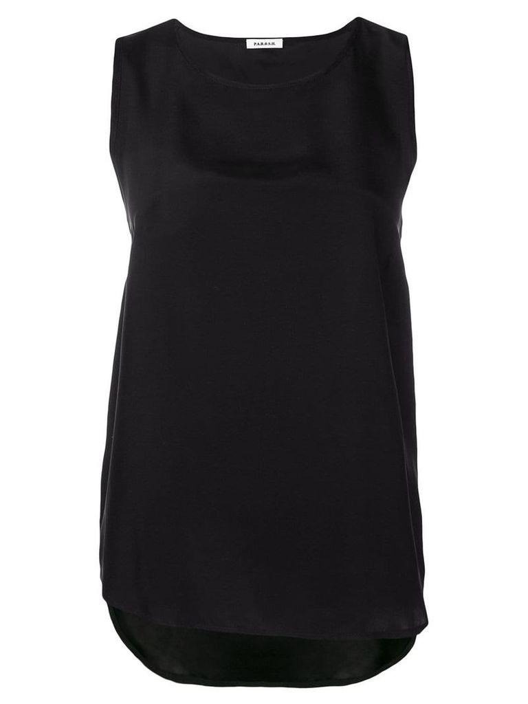 P.A.R.O.S.H. sleeveless blouse - Black