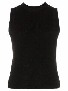 Carcel Tuck sleeveless alpaca wool T-shirt - Black