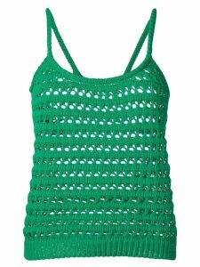 Prada crochet tank top - Green